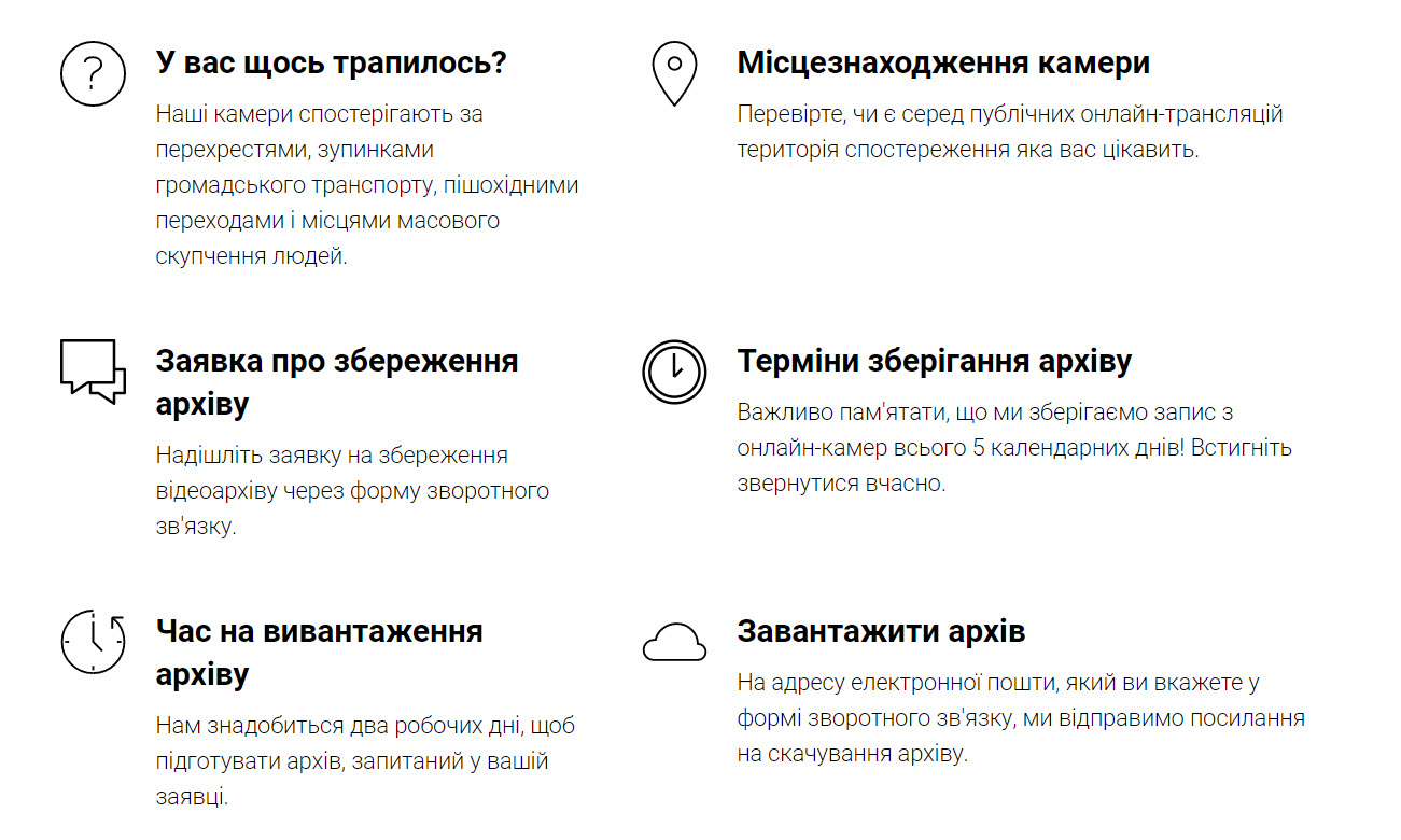 Інформація з сайту проєкту webcam.sumy.ua