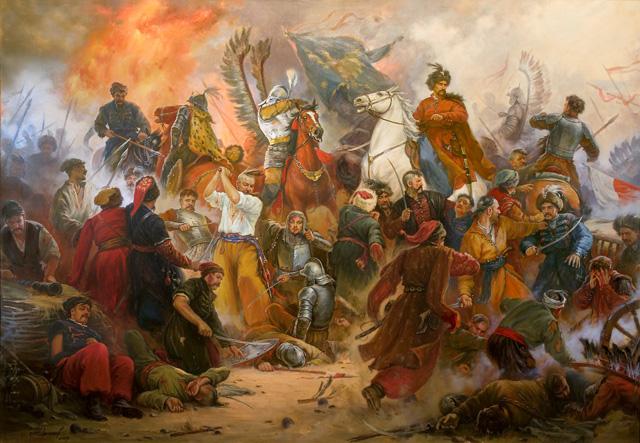 Битва під Берестечком, картина А.Орльонова