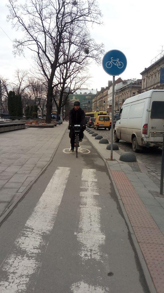 Велодоріжка у Львові, фото — постановка