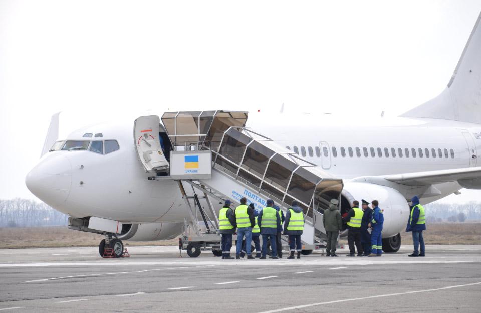 Boeing 737-700 зі 149 пасажирами на борту. Рейс до Єгипту. Фото: «Полтавщина»