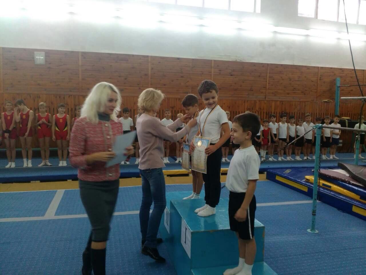 Нагородження призерів на змаганнях з гімнастики, 2017 рік. Фото: Сумська міська рада