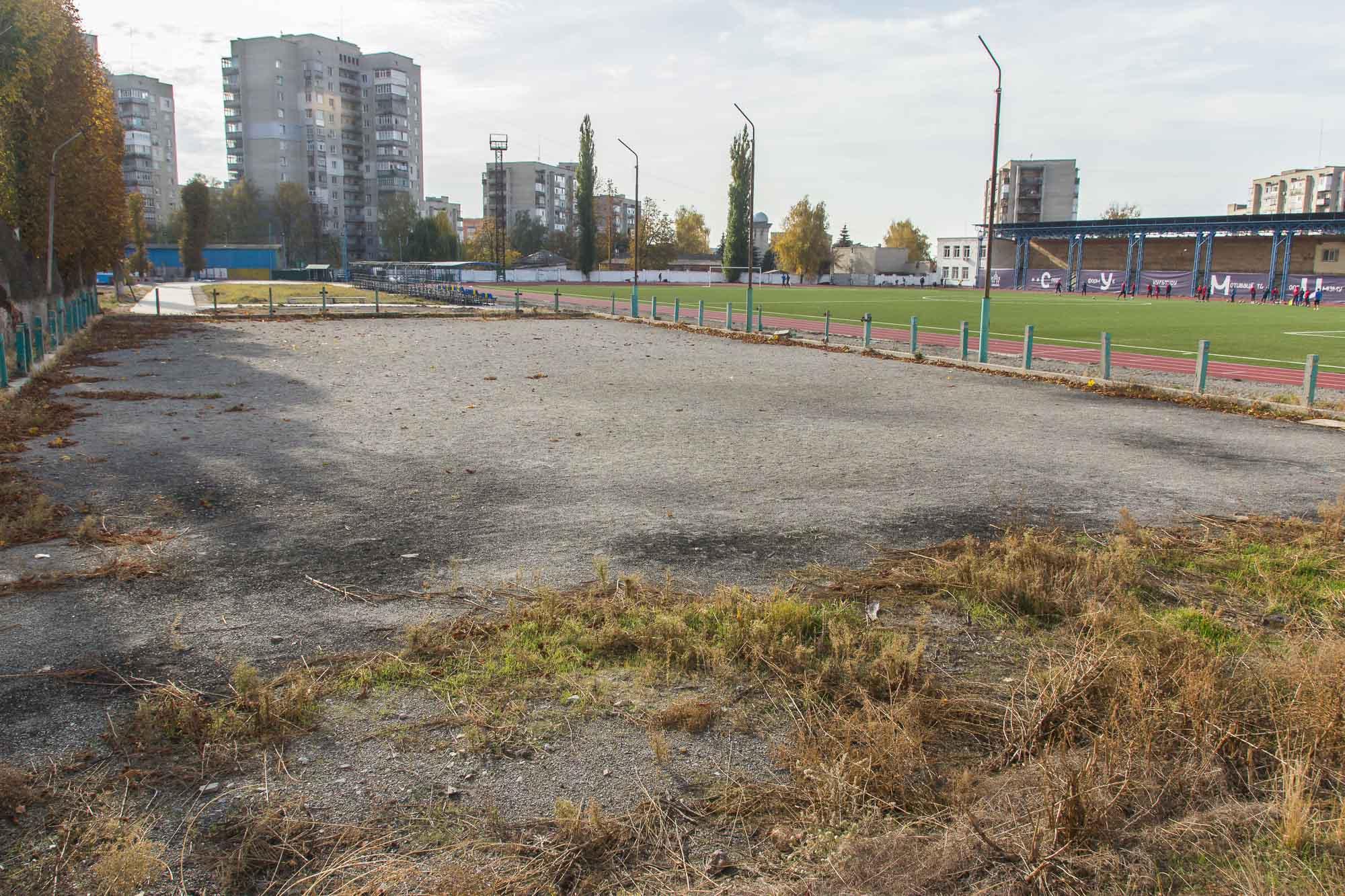 Місце, де була футбольна «коробка», 2020 рік. Фото: Цукр