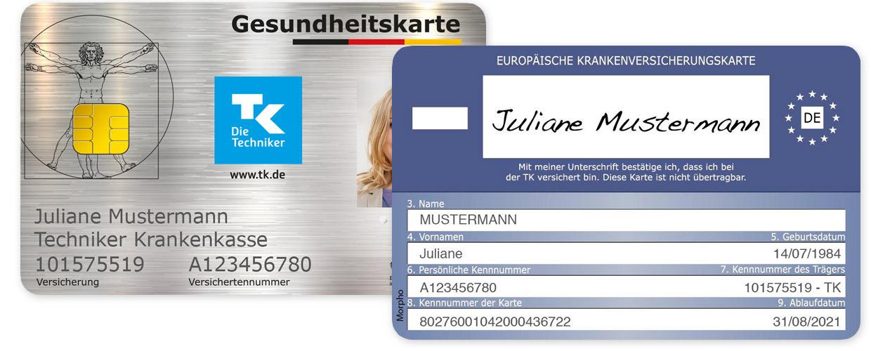 Так виглядає картка страхування в Німеччині (провайдер TK). Фото: www.tk.de