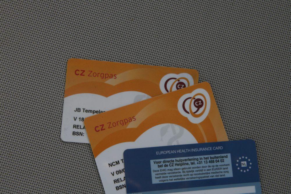 Так виглядає картка страхування в Нідерландах (провайдер CZ). Фото: lots-to-do.nl