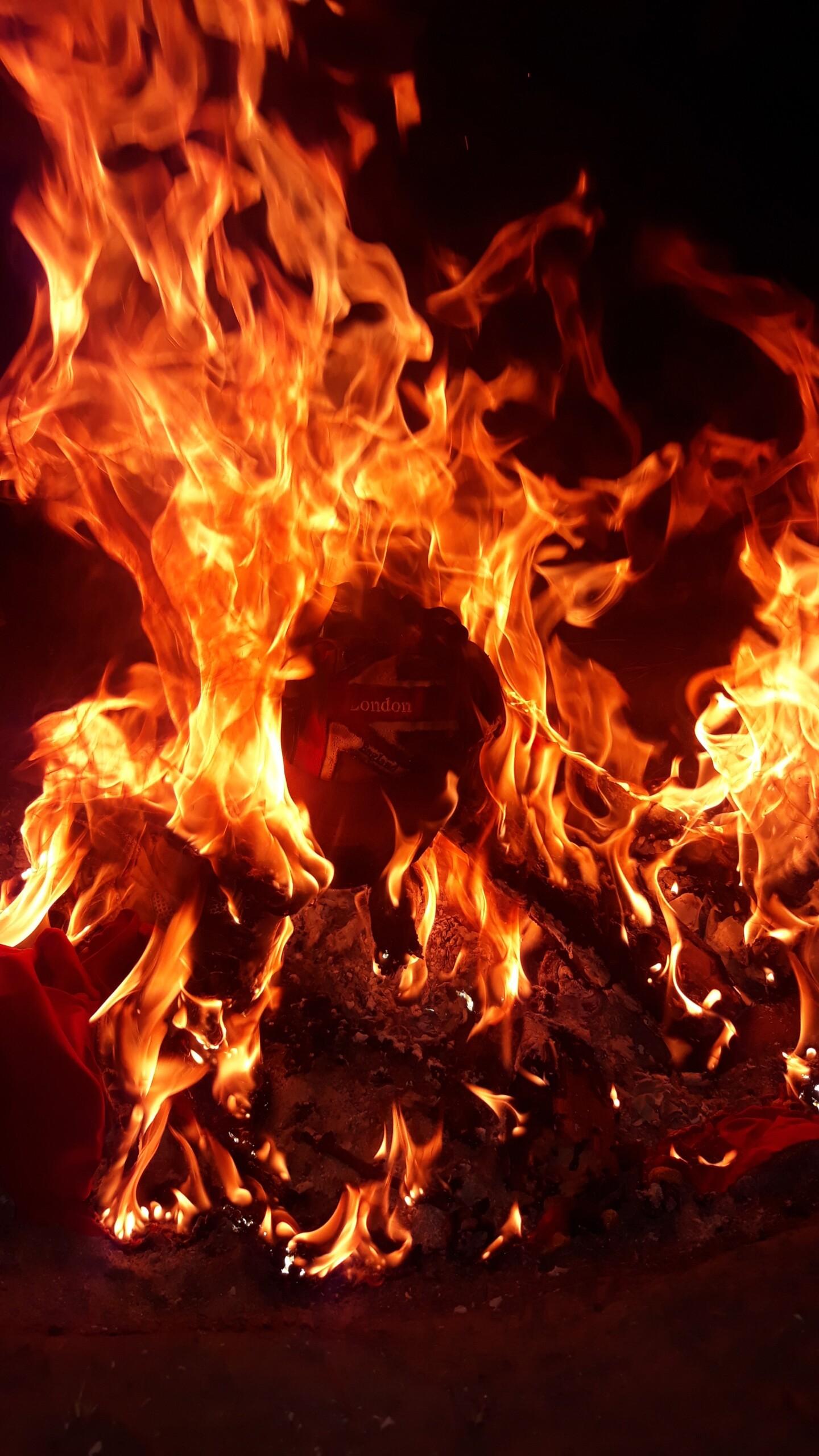 Процес її спалювання
