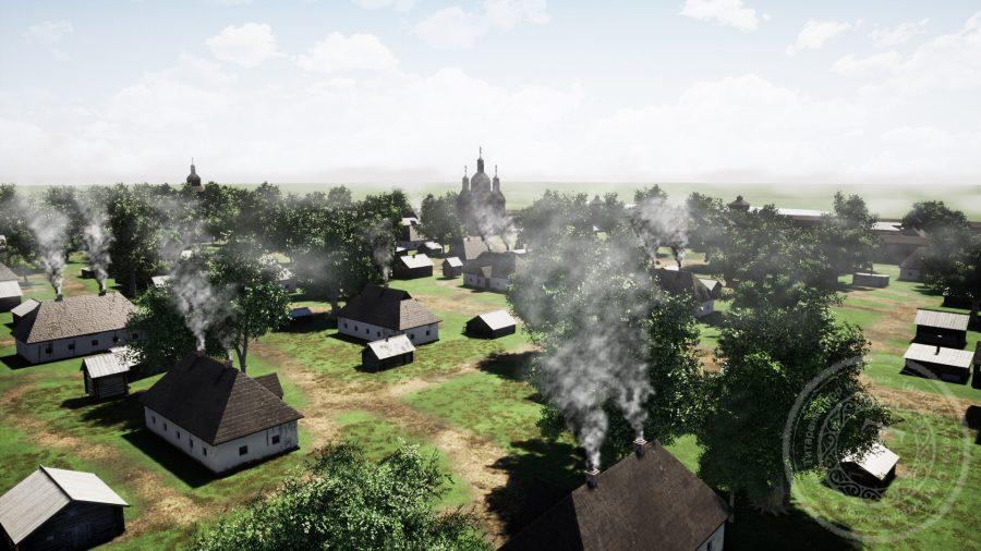 Вид на «город». На цьому зображенні можна спостерігати Преображенську церкву. Фото: Ігор Титаренко