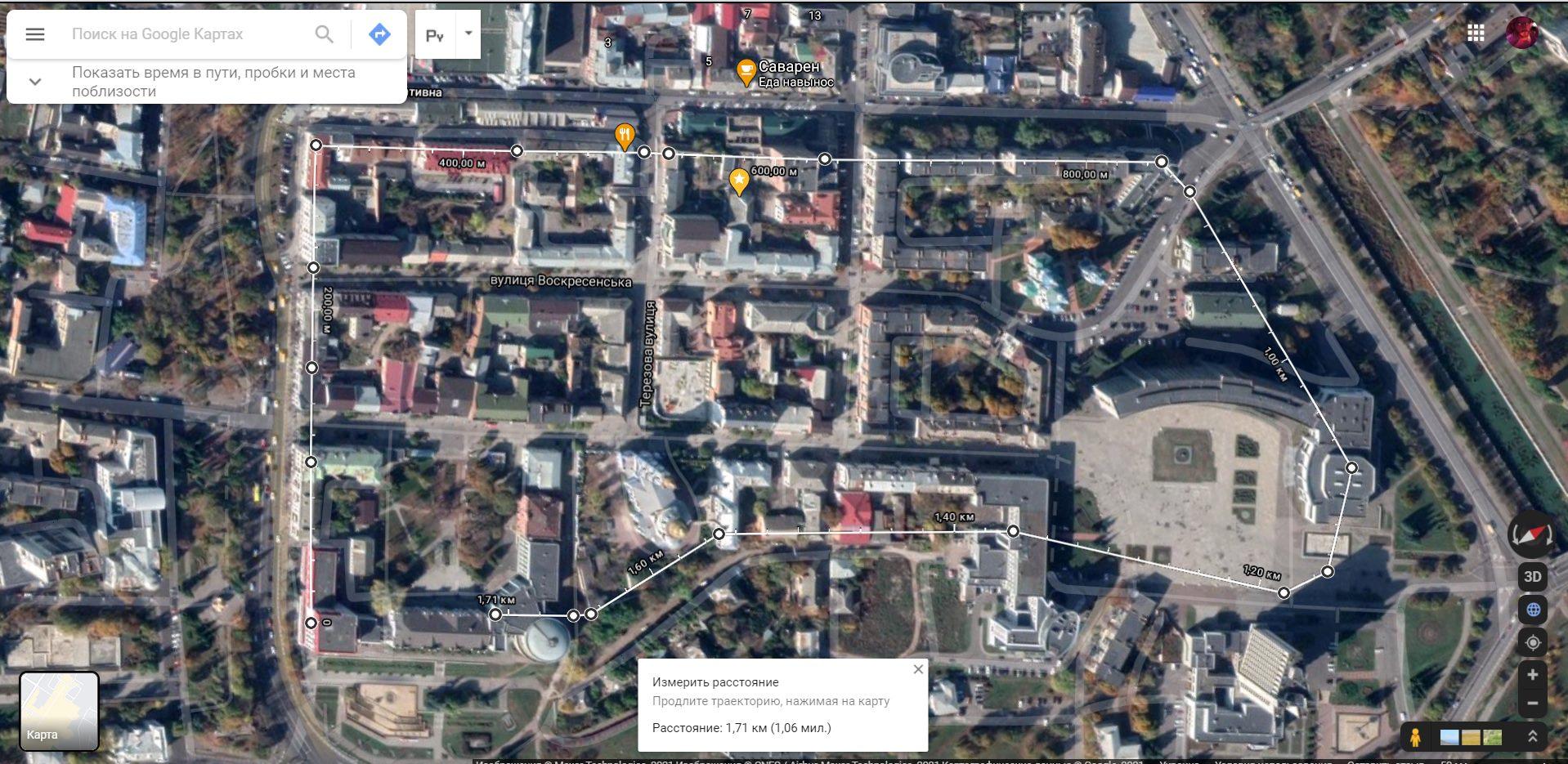 Розміщення оборонних укріплень Сумської фортеці. Аналіз виконаний на супутниковому знімку місцевості. Фото: Ігор Титаренко